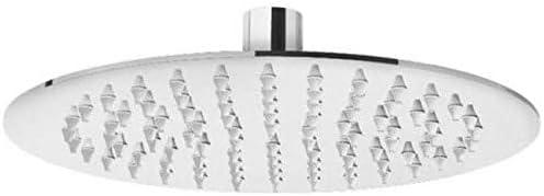 CPROSP Soffione Doccia Rotondo 25cm 2 10 Pollici Testa Doccia Tonda ad Alta Pressione in Inox 304 Attacco Standard G1 Effetto Specchio Lucido