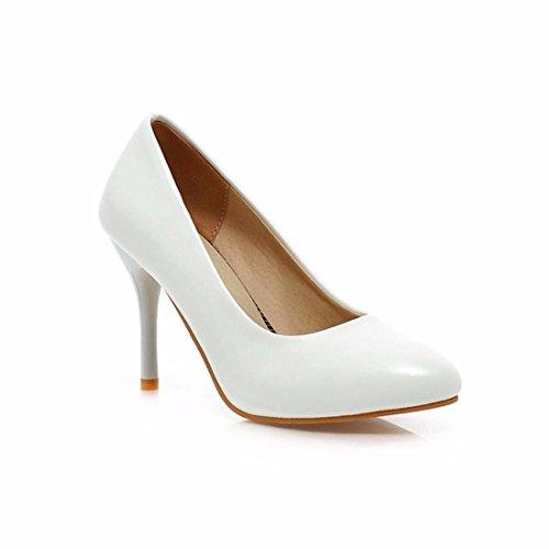 Zapatos de Tacón/La Mujer Tacones Altos, Grandes Patios y Zapatos de Mujer de Tacón de luz White