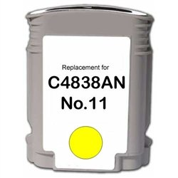 Compatible HP Remanufactured Ink Cart C4838AN, No. 11 Yellow 1-2 Day DELIVERY