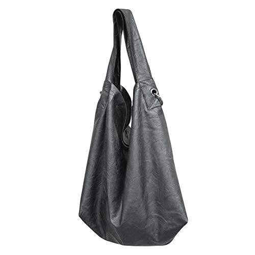 poignée Sacs en bandoulière main décontractés supérieure Noir grande Sacs à souple à avec capacité cuir femmes pour TrT6wqF