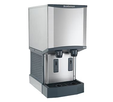 Scotsman Ice Machines Dispensers - Scotsman HID312A-1 Meridian Ice Machine/Dispenser H2 Nugget Ice air cooled up t