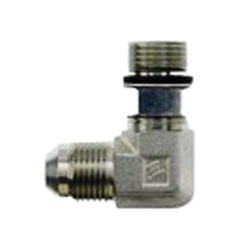 1//2-20 SAE x 9//16-18 SAE ORB Thread 5//16 Male JIC x 5//16 Male Adjustable O-Ring Boss 1//2-20 SAE x 9//16-18 SAE ORB Thread Inc. Brennan Industries 6801-05-06-NWO-FG Forged Steel 90 Degree Elbow Tube Fitting
