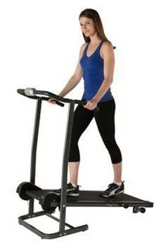 Fitness Reality TR1000 Manual Treadmill with 2 Level Incline and Twin Flywheels by Paradigm Health and Wellness Inc