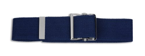 Prestige Medical 621-blu Cotton Gait Belt with Metal Buckle Blue