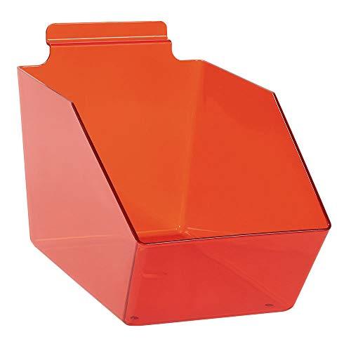 "Buy All Store 6 Slatwall Bins Dump Acrylic Clear Red 9 ½"" x 6"" X 5 ½"" Plastic Retail Display -  buyallstore"