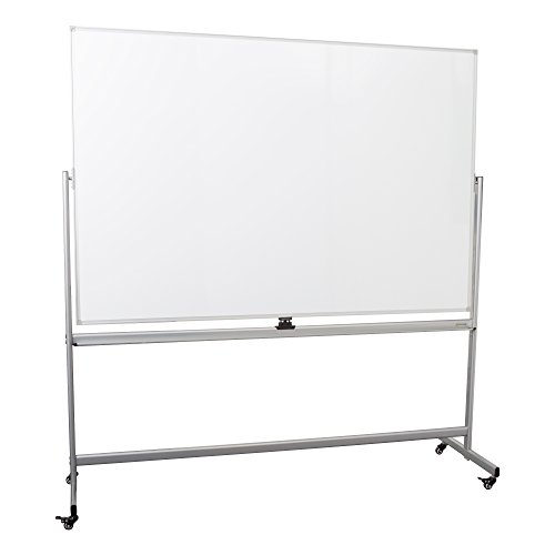 Learniture Double-Sided Mobile Magnetic Markerboard, 6' W x 4' H, White, LNT-RCE-3047-PK-SO by Learniture