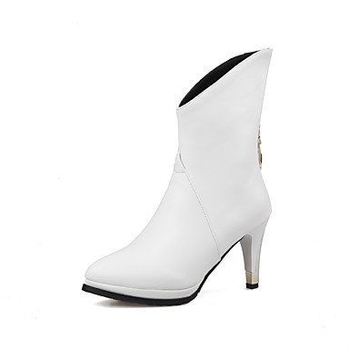 Club Up Shoes A white Formale Light donna festa us8 Da Matrimonio uk6 PU Serata Stivaletti TOU eu39 cn39 stiletto e Shoes Rosso Comoda Nero Poliuretano Marrone CH ZpBOvq6