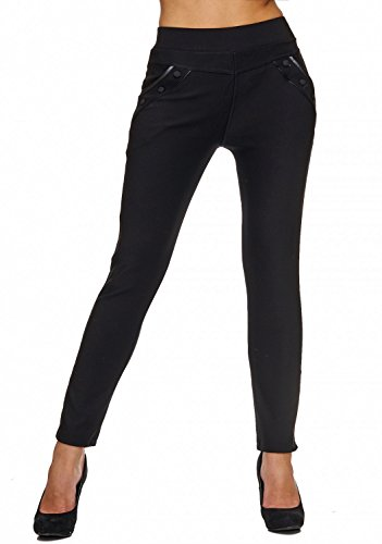 Nero Arizonashopping Donna Hosen Stretch Pantaloni Treggings Jeans D1780 qzTxq0r