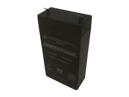 Power-Sonic PS-632 6Volt 3.5Ah Rechargeable SLA Battery by Powersonic