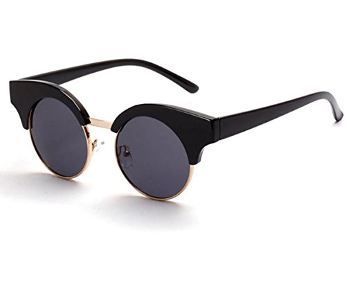 Heartisan Vintage Round Lens Anti-UV Polarized Cat Eye Sunglasses - Glasses Tumblr Vintage