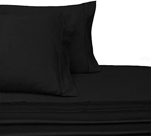 100/% Cotton Fitted Sheet Only Dark Grey Solid Queen Size 15 Inch Deep