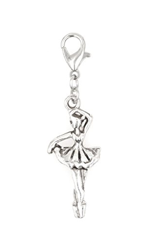 Ballerina Dancer Clip on Charm Perfect for Necklaces and Bracelets 103E ()