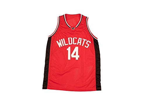 8bb323eb765f borizcustoms Zac E Troy Bolton 14 East High School Wildcats Red Patch Basketball  Jersey Tanks Stich (58)