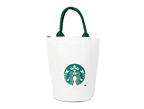 Starbucks New Logo Canvas Anywhere Tote Bag, Shopping Lunch Bag Limited Edition Authentic ()