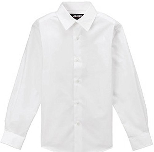 WHITE SHIRT for Boys Gino Formal Dress Shirt #G111 (14) -