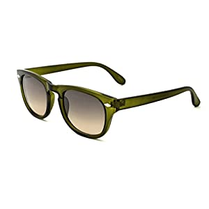 Zoo York Men's Round Sunglasses, Green Frame, Smoke to Brown Lens, 49mm