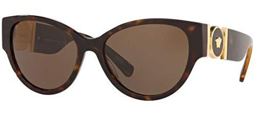 Versace 0VE4368 Gafas de sol, Havana, 56 para Mujer: Amazon ...