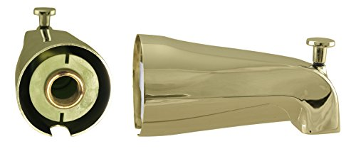E535-12R-PB, Zinc Rear Tub Spout/ Telescoping, 1/2