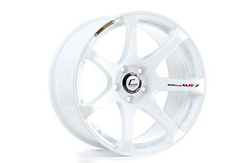 Cosmis Racing MR7 18x9 +25mm 5x114.3 White Rim Wheel