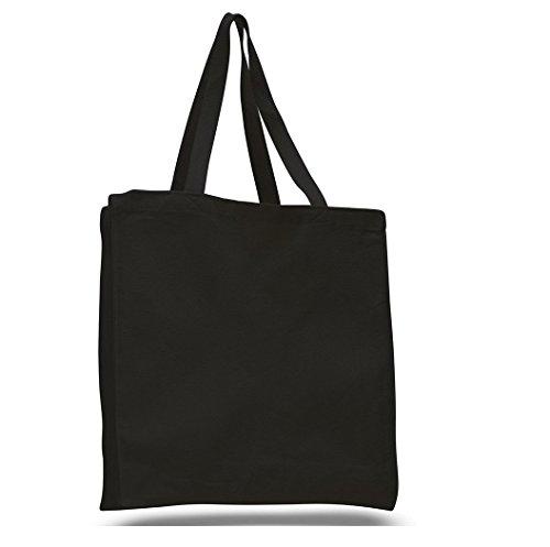 SHOPINUSA Buy Bulk Heavy Canvas Wholesale BLACK Tote bags Wi