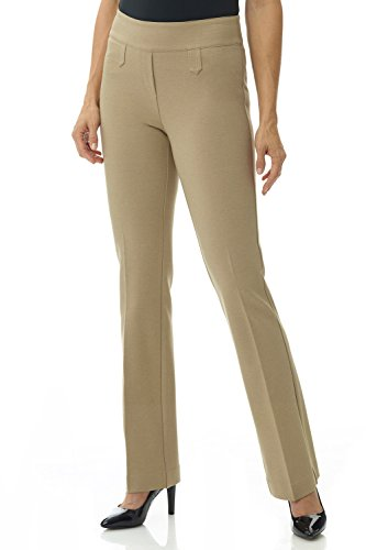 Rekucci Women's Secret Figure Pull-On Knit Bootcut Pant w/Tummy Control (2,Camel)