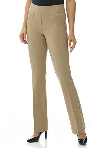 Rekucci Women's Secret Figure Pull-On Knit Bootcut Pant w/Tummy Control (18,Camel)