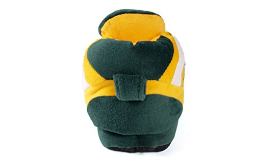 Womens NFL Feet Slippers Comfy Green Slippers Sneaker and OFFICIALLY Bay Packers LICENSED Happy Feet Mens 0waqxqfZ8n