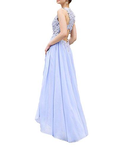 Long Prom Women's Dress O DKBridal Bridesmaid Neck Lace Gown Evening Mint Chiffon nq6qgS1wxC