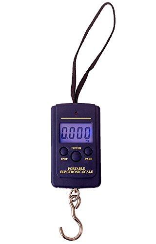 LDW Portable Electronic Scale Hangging Hook Scale, Weighing Tool, 40kg/10g Dark Blue