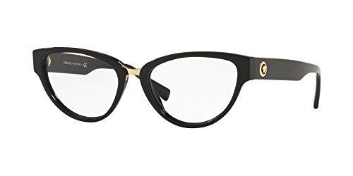 Versace VE3267 Eyeglass Frames GB1-51 - Black ()