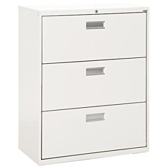 Sandusky Lee LF6A363 22 600 Series 3 Drawer Lateral File Cabinet,  19.25u0026quot; Depth
