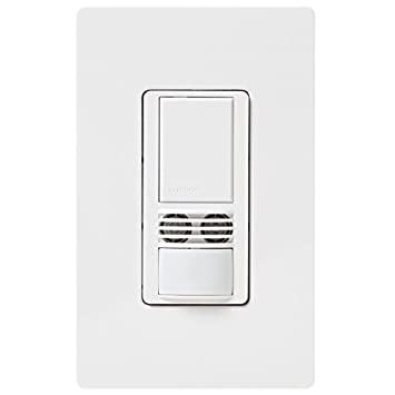 Lutron MS-B102-WH Maestro 6-Amp 3-Way Multi-Location Dual Tech Occupancy Sensor Switch, White