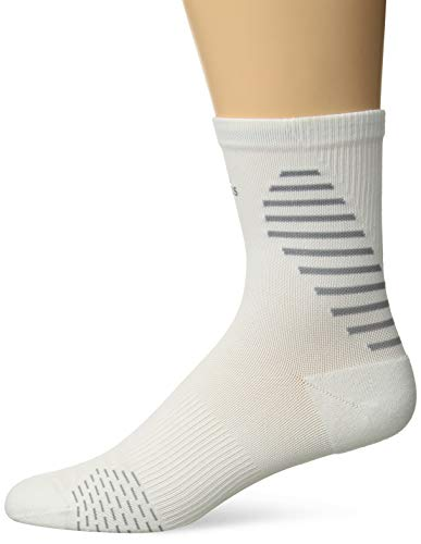 adidas Running Mid-Crew Socks (1-Pack), white/light Onix/silver Reflective, 9.5-12 ()