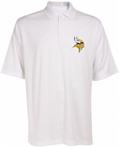 (Minnesota Vikings NFL Team Apparel Dri Fit Polo Golf Shirt White Big & Tall Sizes)