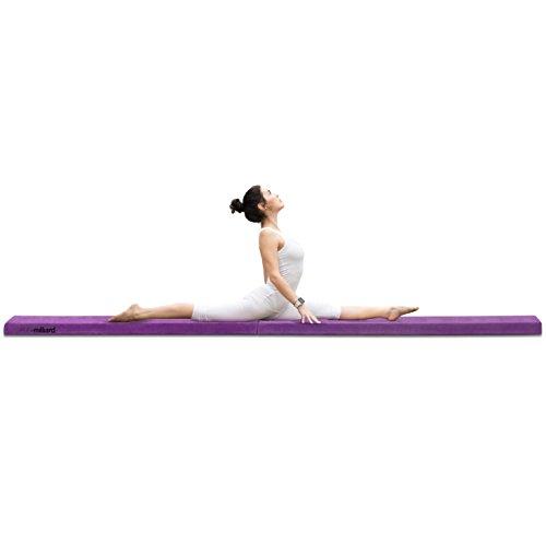 Milliard Wood Folding Balance Beam 9.5 Feet Gymnastics Intermediate Level Floor Beam, Wood Base with Foam Top and Carry Handle for Skill Performance Training
