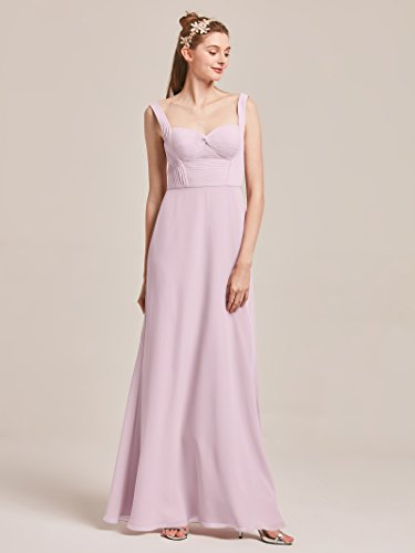 Long Sleeveless Prom Dresses Alicepub Chiffon Lilac Evening Bridesmaid Sweetheart for Gowns Women Party 5YFw1pSqw