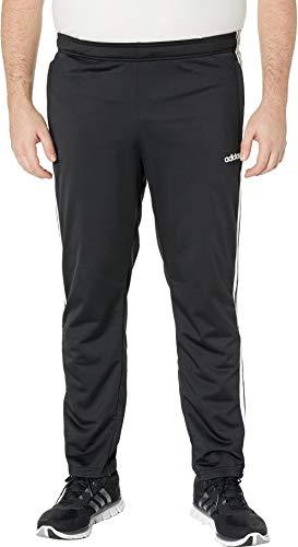 adidas Men's Big & Tall Essentials 3-Stripe Tricot Open Hem Pants Black/White XL 31 Tall by adidas (Image #3)