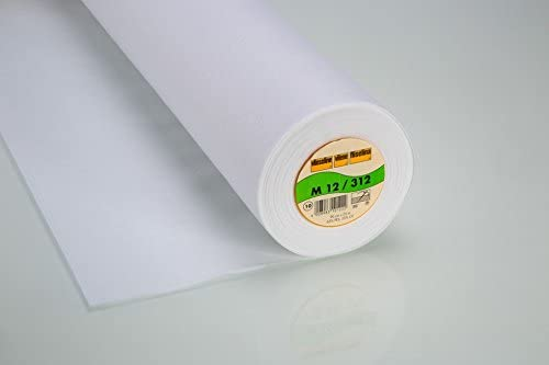 metre Vilene G700 White woven cotton Medium iron on fusible interfacing