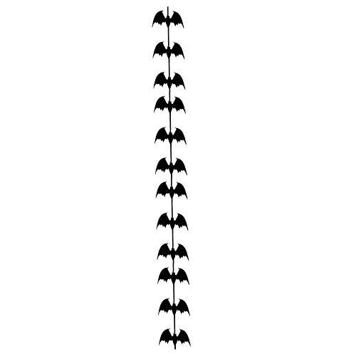 Party Diy Decorations - Creepy Bats Hanging Curtain Halloween Props Night Decoration Wicked Bat Background Decor - Party Decorations Party Decorations Artificial Rainbow Creepy Shirt Food Charm