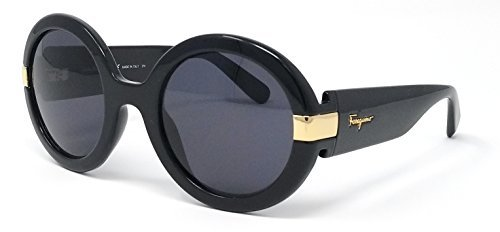Salvatore Ferragamo Women's Gancino Round Sunglasses, Black/Grey, One - Salvatore Ferragamo Sunglasses