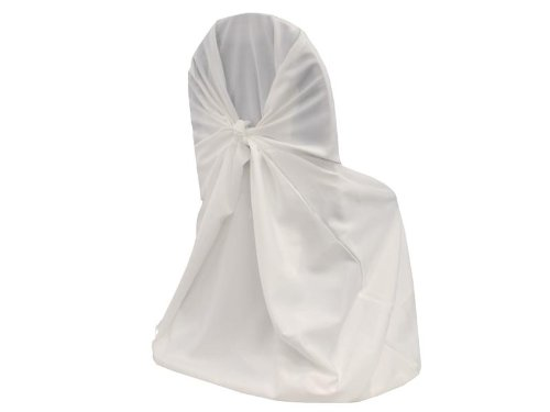 Chair Cover Self Tie - mds 10 Polyester Universal self tie Back Chair Covers Wedding Party Decorations - White