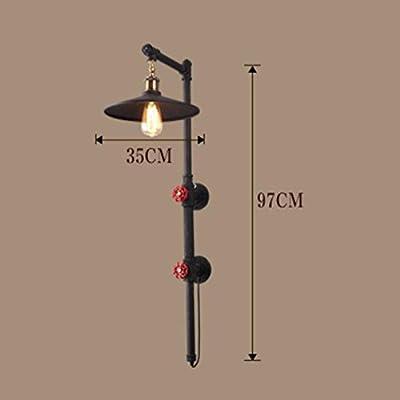 Yxx max Bedroom Wall lamp Iron Pipe Wall Lamp, Retro Industrial Wind Cafe Aisle Balcony Restaurant Bar Wall Lamp