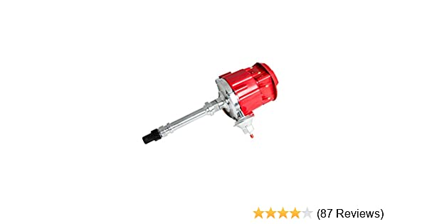 Top Street Performance JM6500R HEI Distributor with Red Flat-Cover Super  Cap (65K Volt Coil)