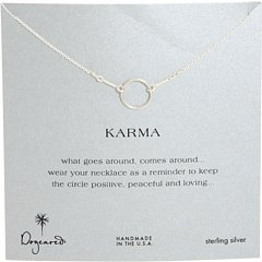 Dogeared Women's Karma Necklace 16 inch Sterling Silver One Size
