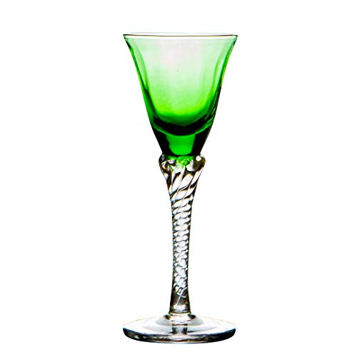 - Original Murano Glass OMG Drinking Glasses Green - Set of 6 - Batterfly Little