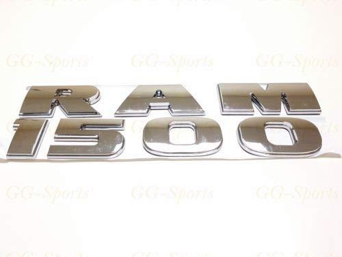 2PC Chrome Dodge RAM 1500 Emblem Badge 3D Letter LOGO EMBLEM LETTERS NAMEPLATE