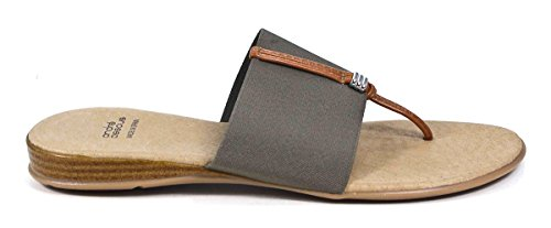 Andre Assous Womens Nice-A Sandal Taupe Elastic/Leather hfvAbXDt