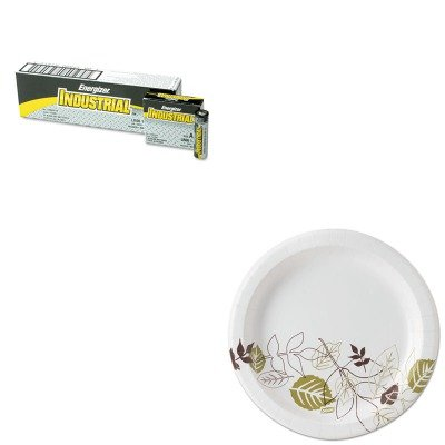 KITDXEUX9PATHEVEEN91 - Value Kit - Dixie Pathways Mediumweight Paper Plates (DXEUX9PATH) and Energizer Industrial Alkaline Batteries (EVEEN91)