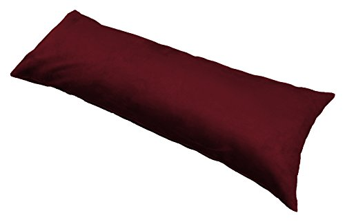 Multiple Colors Microsuede Pillowcase Burgundy product image