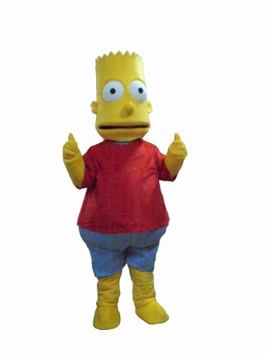 Bart Simpson Halloween Costume (The Simpsons Bart Mascot Costumes Halloween Fancy Dress Outfit Suit)